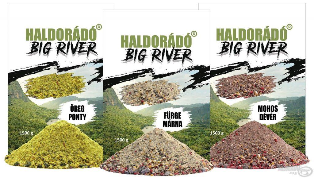 A Haldorádó BIG RIVER a folyóvízi horgászatokhoz fejlesztett új etetőanyag család